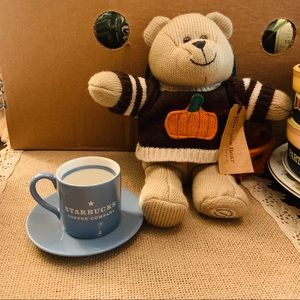 Starbucks expresso Cup and Autumn Bearista Teddy